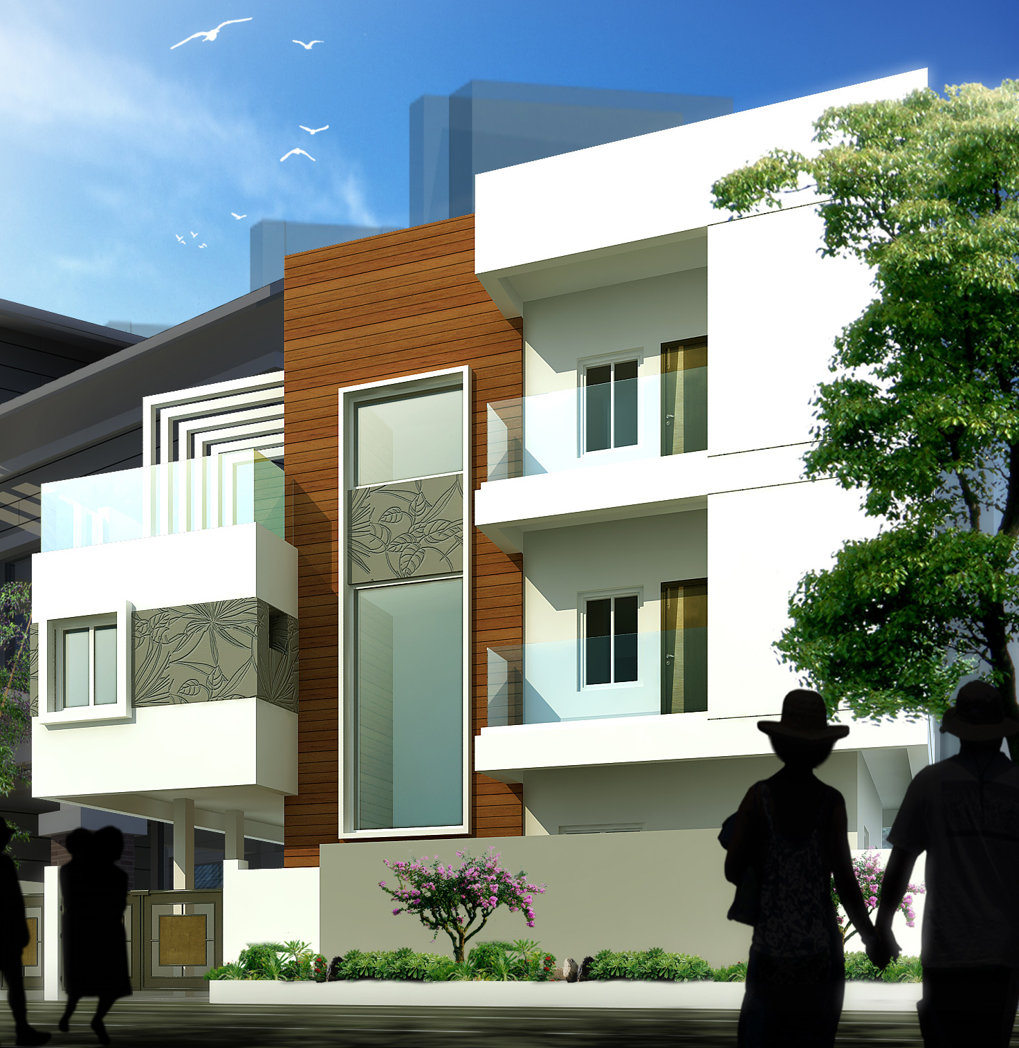 AR CONCEPTS   Anith House Residential Elevation Image