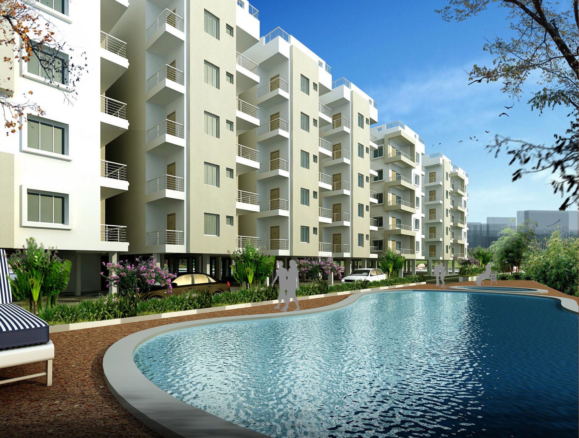 AR CONCEPTS Balaji Infra SwmmingPool View