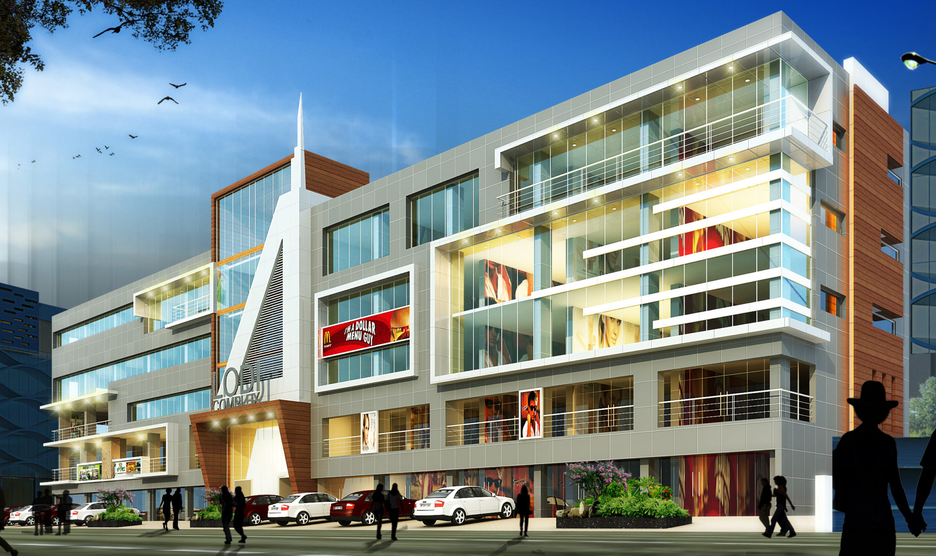 AR CONCEPTS  Fathima Nagar Complex Elevation B