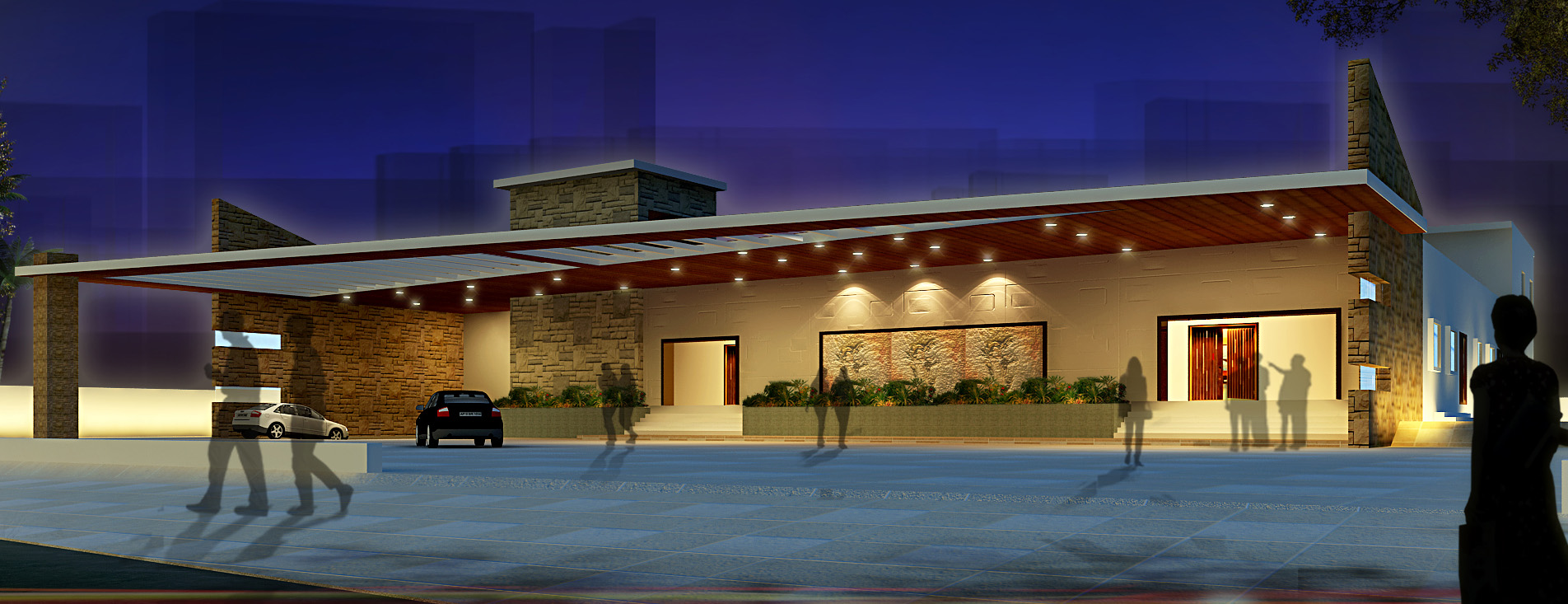 AR CONCEPTS   Kln Convention Hall Elevation Image