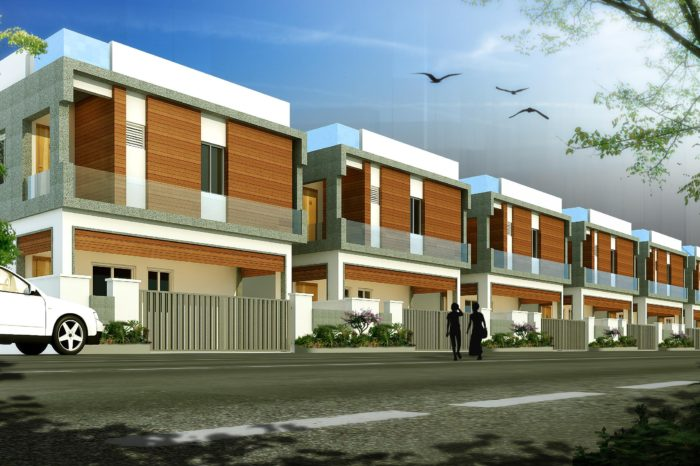 AR CONCEPTS Raj Villas West Facing Villa Street View