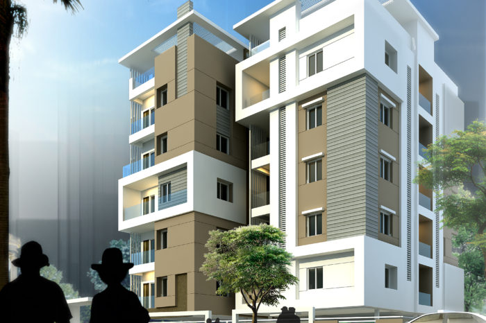 AR CONCEPTS Vinod Reddy Apartment Elevation Image