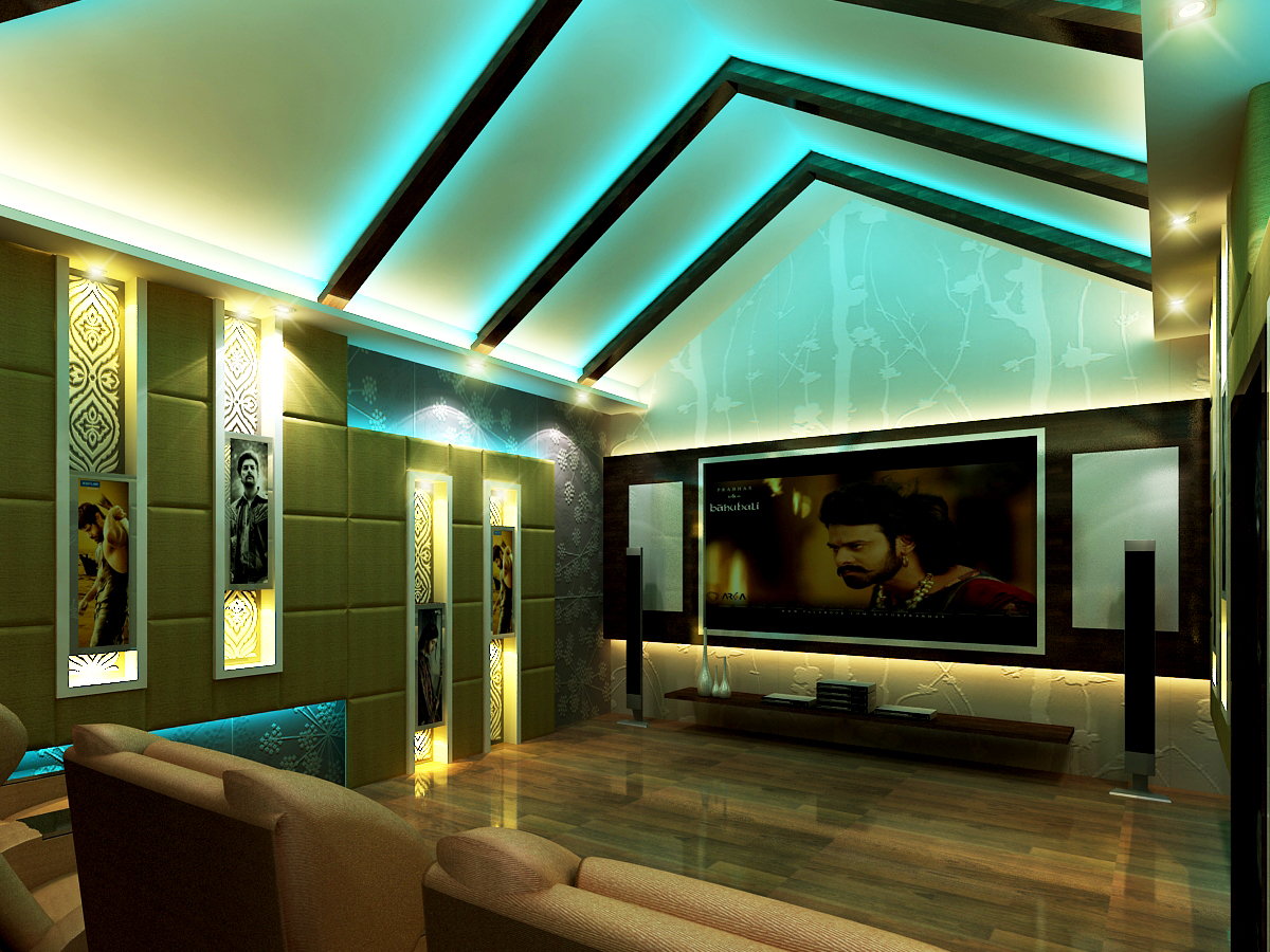 AR CONCEPTS Vitta Ramesh Residential First Floor Home Theater Room Image A