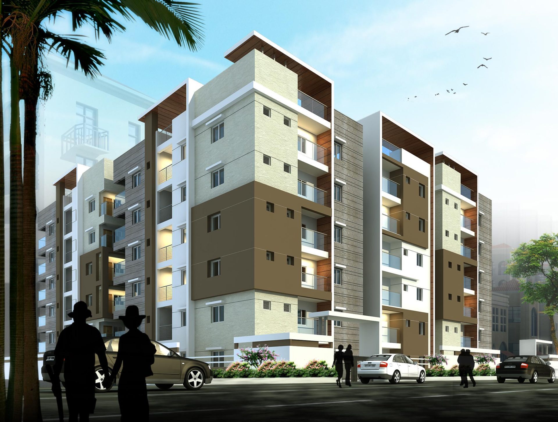 AR CONCEPTS Hansa Kakatiya Apartment Elevation Image