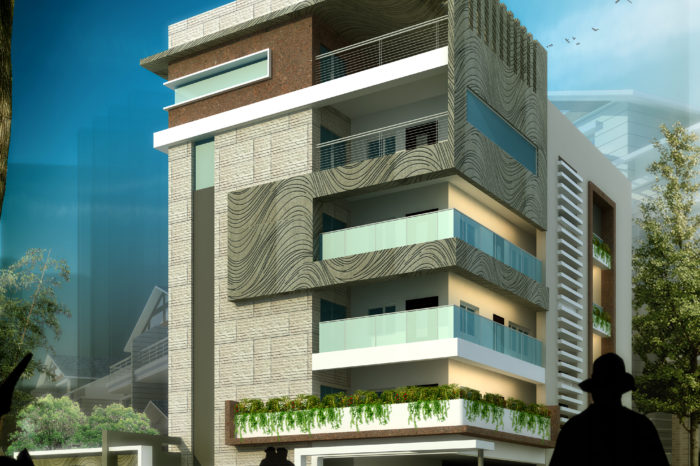AR CONCEPTS Kalidas Residential Elevation Image