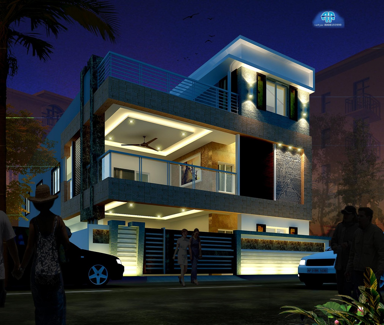ar-concepts-krishna-ongole-residential-elevation-night-image