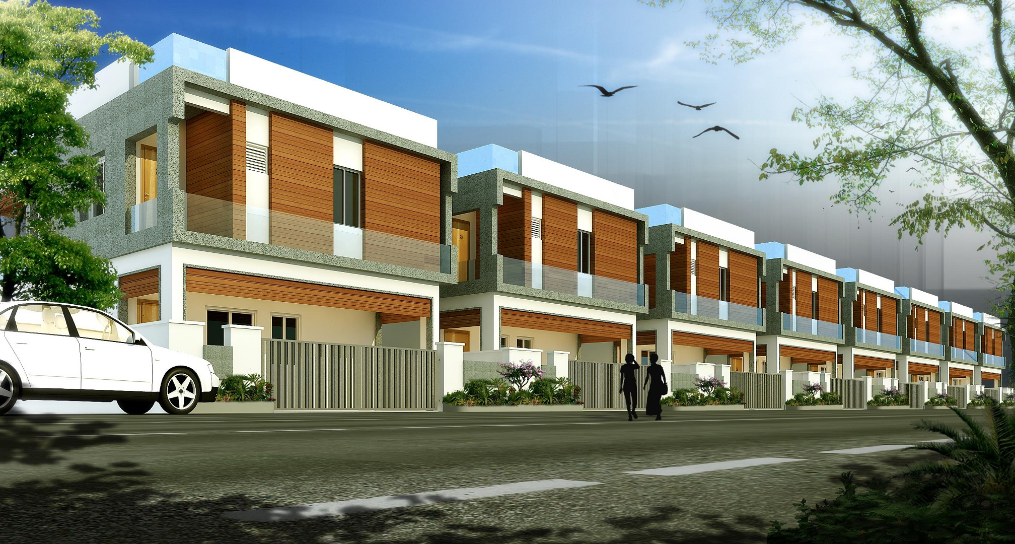 ar-concepts-raj-villas-west-facing-villa-street-view