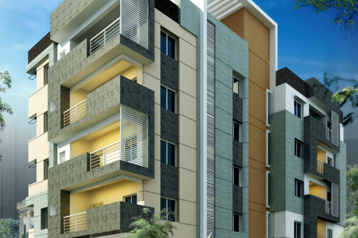 AR CONCEPTS Ravi CA Apartment Elevation Image