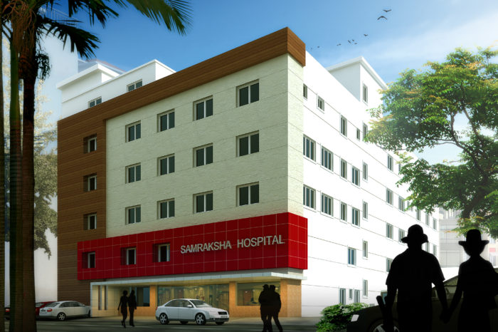 AR CONCEPTS   Samraksha Hospital Elevation Image