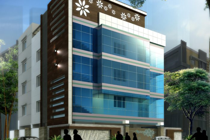 AR CONCEPTS  Srinivas Begumpet Commercial Elevation Imagw A